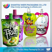 spout pouch, stand up pouch with spout, beverage packaging, spout packaging