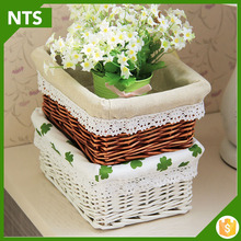Wholesale Crafts with Curly Willow Branches Wicker Basket