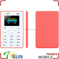 best selling products AIEK M5 Card Mobile Phone 4.5mm Ultra Thin Pocket mini phone