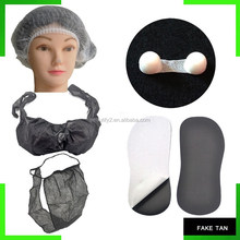 Tanning application disposable body tanning accessories