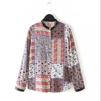 MS66264W latest vintage prints women blouse Indian clothing wholesale