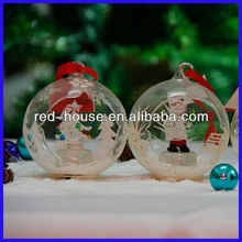 Open Fashionable Snow Christmas Ball Ornament