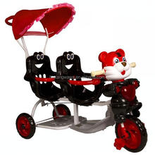 2015-2016 new model baby twins tricycle manufacturer