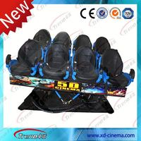 Racing car seats Hot sale 4d 5d cinema theater equipment 7d simulator motion chair