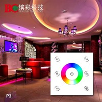 DC12V-24V P3 wall mounted full color circle led touch panel rgb controller