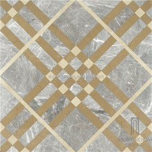 Italy Grey Laminated Marble for Building Materials Burberry Design Polished Marble Tile
