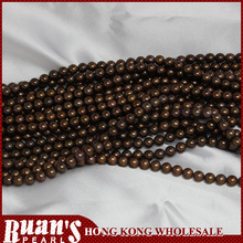 Mm 7-7.5 aaa1 ronda cultivadas de agua dulce filamentos de la perla de chocolate