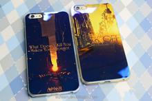 Fashion laser blue light mirror mobile phone case for iphone 6, case for iphone