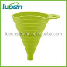 OEM food grade silicone collapsible funnel