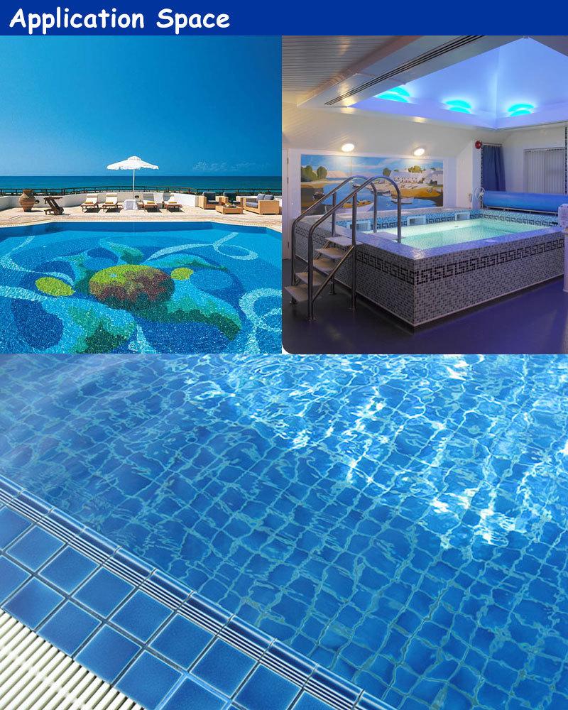 Tc25008 Foshan Decorative Blue Glazed Ceramic Mosaic Pool Designs View Decorative Mosaic