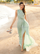 Hot Sale Real Photo 2014 A line Tassels Ruffles Boat Neck Long Evening Prom Dress Emerald Green Chiffon Maxi Dresses