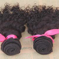 14 14 14inch wholesale unprocessed deep wave virgin brazilian human hair wavy
