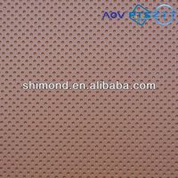 Brown Color Dot Grain Embossed 100% PVC Leather for Car Seat cover, Furniture, Sofa etc