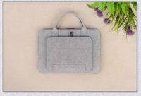 Popular wool felt 13 inch gray cheap laptop computer bag