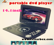 high quality portable cassette cd dvd evd player with fm tv tuner game portable dvd evd player