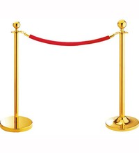 Top Titanium Coated Stainless Steel Red Velvet/Twisted rope barrier