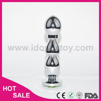 139*35*43mm 217g sex toy for woman man big size metal anal toys anal plug