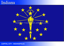 china supplier cheap multinational state flag,Indiana flag