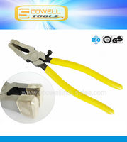 """8"""" Inch Professional Glass Pliers & Nippers with Plastic Jaw"""