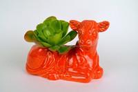 factory directly ceramic cow planter mini flower pot succulent planter