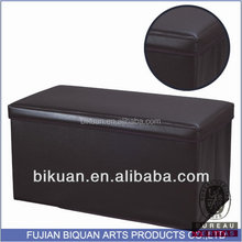 BQ brown leather ottoman and pouf