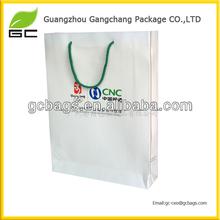 2015 envirenmental reusable cotton handle paper shopping bag