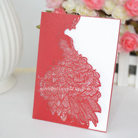 wholesale pocket invitations peacock envelopes wedding pocket fold invitations