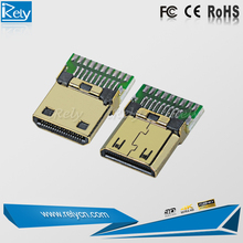 hot sale 19pin pcb plate HDMI C type golden plated connector