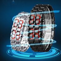Wholesale 50pcs/lot LED Electronic Digital Watch Lava Style Iron Samurai Metal LED Lava watch