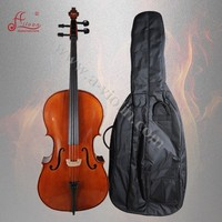 Aileen Musical Instrument Hand Carved Ebony Solidwood Student Cello (ACL-13)