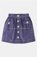 Mini Boden 'Spotty' Chambray Skirt (Little Girls & Big Girls) | Nordstrom