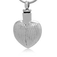2015 Trend Memorial Memory Jewelry Wholesales 316L Stainless Steel Blank Heart Cremation Locket Urn Pendant To Put Ashes Or Hair