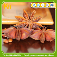Dried whole spice without stem star anise in food