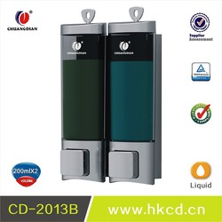 200ml *2 hotel, family, bathroom, restaurant ABS manual liquid wall hand soap dispenser with lock design CD- 2013B