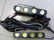 16W Car Led Daytime Running Light 8 Led DRL Daylight IP67 Waterproof Aluminum Grill LED Driving Light with Controller