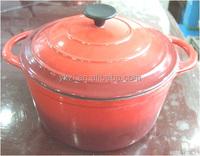 Dia. 26 CM Round Shape Cast Iron Casserole / Dutch Oven (Cookware With EU / LFGB / FDA Certificate)