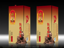 2015 top quality hot sale dimension of carton wine box