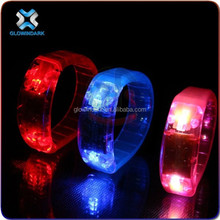 2015 Popular gift fashion led running bracelet with sound activated