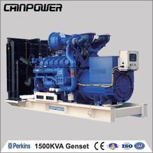1500kva 50hz open type frequency generator diesel generator with control panel