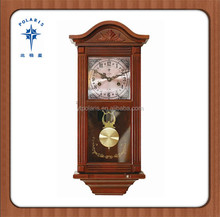 Home Decor Luxyry Wooden Wall Clock Bling Bling Mechanical Clock