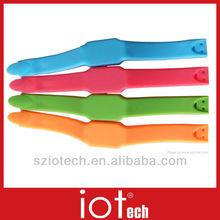Colorful Silicone Bracelet Digital Watch USB Flash Drive