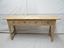 Simple four drawers long narrow console table