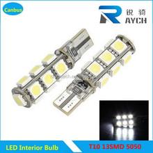 T10 5050 13SMD W5W Car Motor Wedge Bulbs 12V Car Turn Signal Side Interior Dashboard t10 led bulb Light car led interior lights