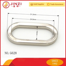 metal accessories oval shape rings for bags