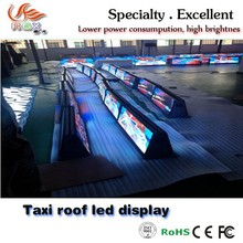 RGX New products Taxi top led/taxi top led screen/advertising display for car