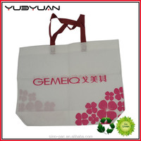Pretty recycled large room heavy duty fashion name brand clothes handbag ladies tote shopping fabric non-woven bag