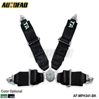 Black / Green Seat Belt with 4pcs FIA 2020 Homologation / Harness / Racing Satefy Seat Belt /width:3 inches/4Point AF-MPH341