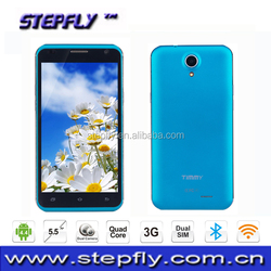 5.5 inch MTK6582 Quad Core 3G Mobile Phone Android 4.4 WIFI Bluetooth cell phone E86