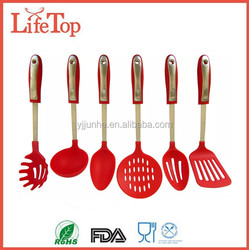 Hot Sell 6 Piece Nylon and Stainless Steel Cooking Kitchen Utensil Set