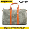 1011 Custom Fashion Canvas and Leather Weekend Bags Travelbags for Men